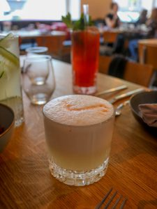 Pisco Sour in einem Glas